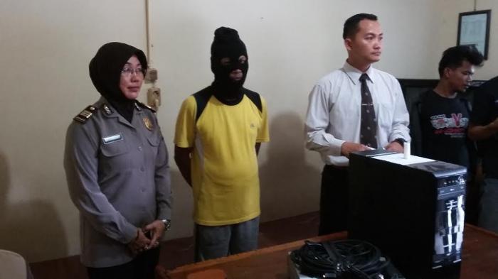 GALERI FOTO: Ini Dia Spesialis Pembobol Kantor Lurah di Kota Jambi
