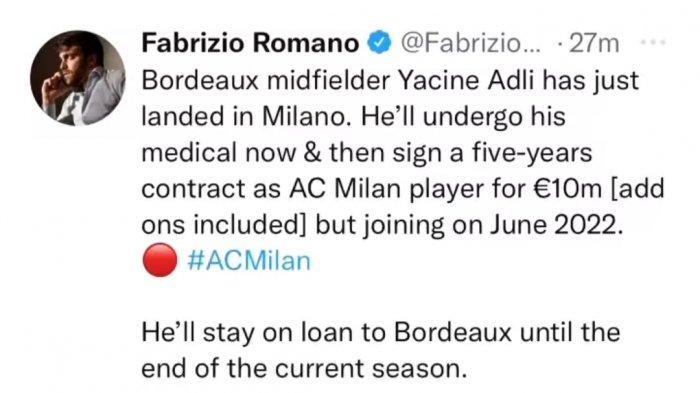 AC Milan dapat Gelandang baru