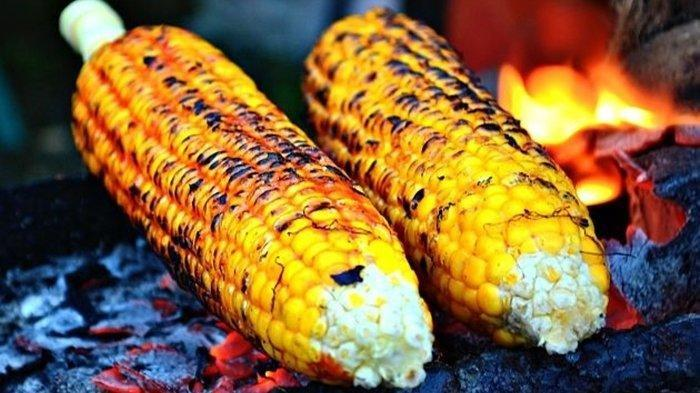 Ilustrasi jagung bakar