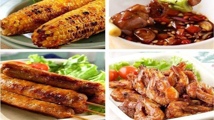 Resep Masakan - Udang Bakar Masak Bumbu Rujak, Sate Ayam Bumbu Jepang, Sosis Bakar Keju,