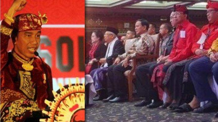 Prabowo Subianto Mendadak Jadi Sorotan, Kursi Spesial Samping Jokowi, Disapa Megawati di Panggung