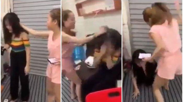 Suami Asik 'Digoyang' Wanita Lain di Salon, Istri Ngamuk Ambil Gunting dan Cukur Rambut Pelakor