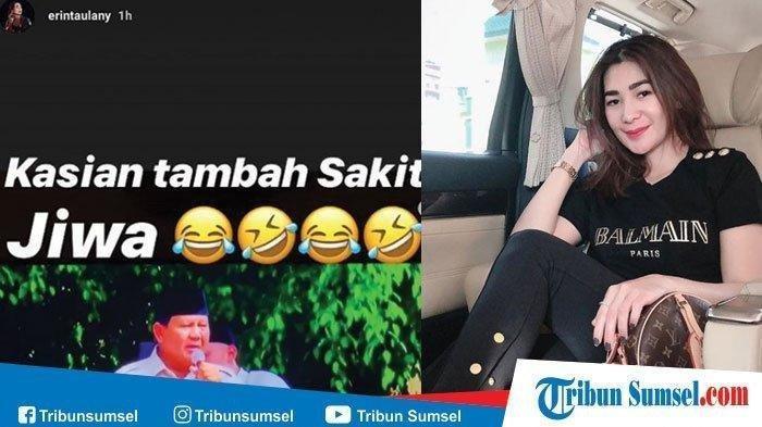 Heboh Tagar #erintaulanysakitjiwa, Hina Prabowo Sebut Sakit Jiwa,Istri Andre Taulany Terancam Pidana