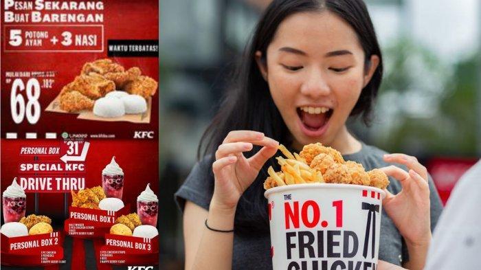 Promo KFC Hari Ini 7 Maret 2021, KFC Personal Box Mulai Dari Rp 31.818, Paket Hoki, mulai Rp 36.364