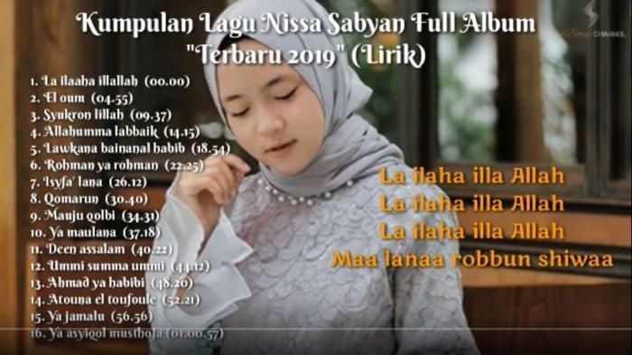 Download MP3 Nissa Sabyan Full Album, Lagu Religi Terbaik Nissa Sabyan