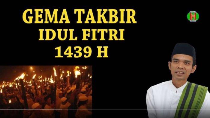 Download Lagu MP3 Lengkap Kumpulan Gema Takbir Idul Fitri, Ada Ustaz Uje Hingga Ustadz Abdul Somad