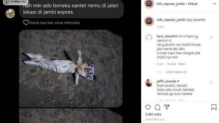 Heboh! Warga Jambi Temukan Diduga Boneka Santet, Netizen: 'Yang Jatuhinnyo Mobil Honda Jazz'