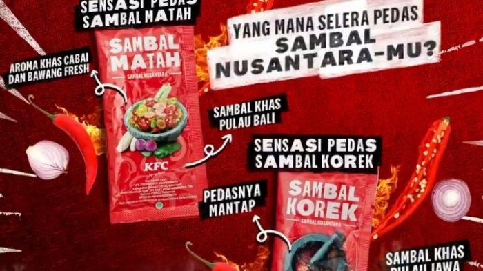 Promo KFC sambal Nusantara terbaru dari KFC