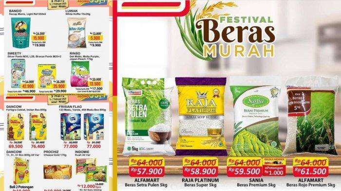 Cek Promo Alfamart Hari Ini 13 Februari Diskon Cokelat Sampo Detergen Tisu Susu Beras 5 Kg Rp 57.900