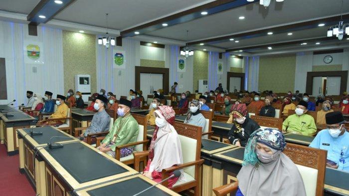 54 pejabat yang dilantik Sekretaris Daerah (Sekda) Provinsi Jambi, H Sudirman, SH,MH