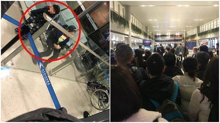Diduga Terinfeksi Virus Corona, Orang Tua Ini Tega Tinggalkan Anaknya di Bandara, Foto-fotonya Viral