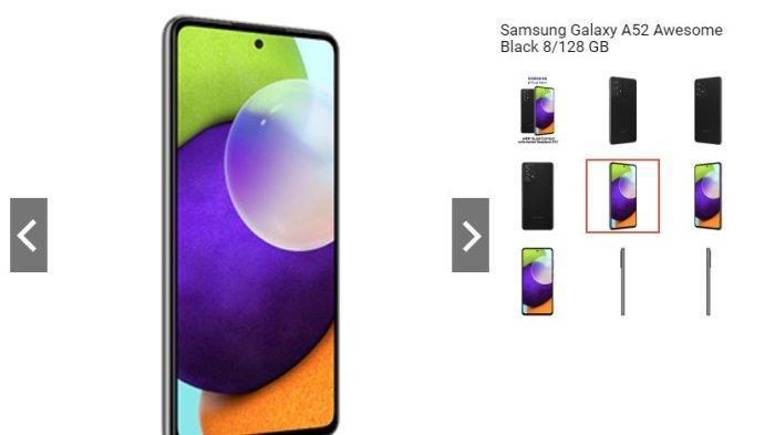 Harga dan Spesifikasi Hp Samsung Galaxy A52, Diantaranya Memory Bisa Diupgarde Hingga 1 TB