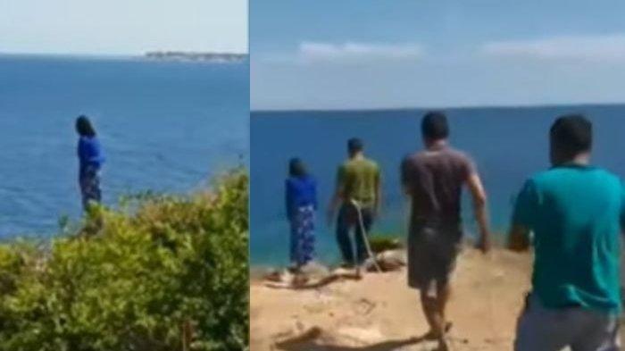 Wanita Hamil Nyaris Bunuh Diri Terjun dari Tebing, Tim Passaka Polres Majene hingga Lakukan Hal Gila