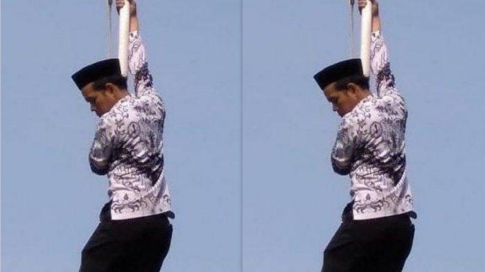 Guru SD di Depok Panjat Tiang Bendera saat Upacara Hari Guru, Ternyata Ini Cerita di Baliknya