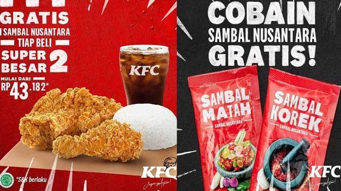 Promo KFC Hari Ini Super Deal Hingga Beli Paket Super Besar 2 Gratis Sambal Nusantara KFC