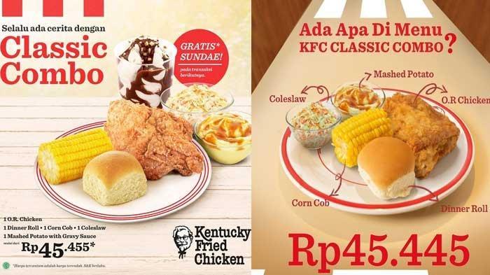 Promo KFC Hari Ini Paket Classic Combo Hingga Crazy Deal Dengan Harga Ramah Kantong