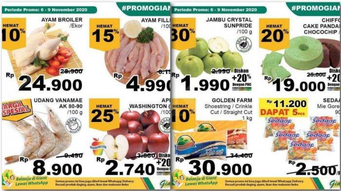 Promo JSM Giant Hari Kedua, Harga Hemat Buah, Ayam, Udang, Susu, Gula, Detergen, Peralatan Masak