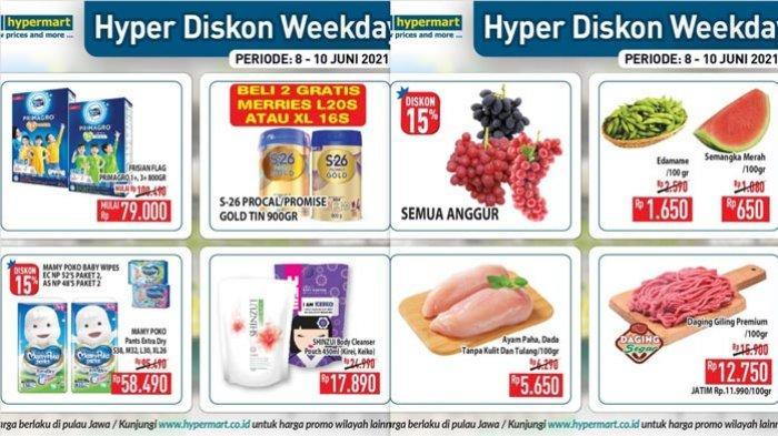 Promo Hypermart Terbaru Diskon Buah Anggur Diapers Susu Bumbu Dapur Aneka Snack Perlengkapan Masak