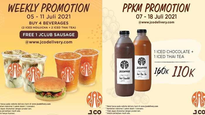 Promo Spesial JCO Hari Ini 8 Juli 2021, Sedia Paket Roti Asin dan Minuman