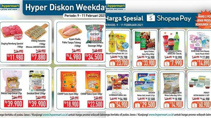 Promo Hypermart Weekday, Hyper Diskon Weekday hingga Promo Spesial Shopeepay, Katalog Cek di Sini