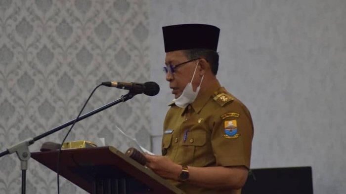 Wakil Gubernur Jambi Drs H Abdullah Sani M.Pd.I membacakan sambutannya.