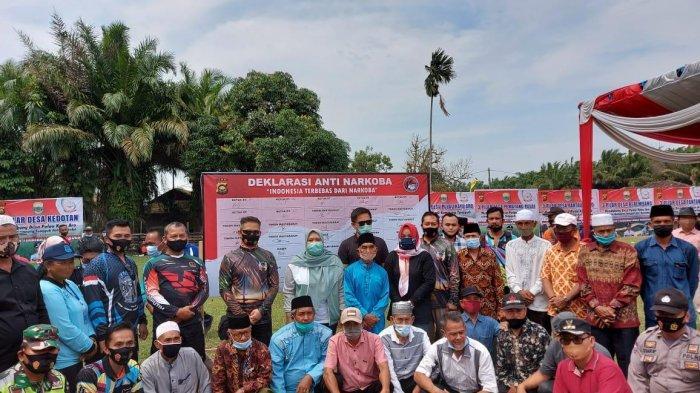 Polda Jambi Gelar Deklarasi Kampung Tangguh Anti Narkoba di Desa Pulau Kayu Aro Muarojambi