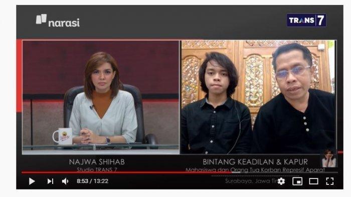 Pengakuan Kapur di Mata Najwa, Anak Hilang Saat Demo Omnibus Law: di Ruang Gelap Anak Ditelanjangi