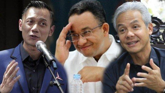 Agus Harimurti Yudhoyono, Anies Baswedan dan Ganjar Pranowo.