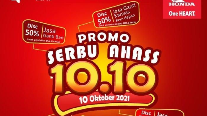 Info Honda Jambi, Diskon 50 Persen, Sinsen Berikan Promo Serbu AHASS 10.10