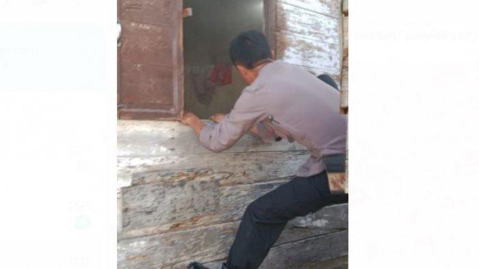 Aksi Aiptu Elfianto Masuk ke Rumah yang Nyaris Terbakar Gegara Pemilik Rumah Lupa Matikan Kompor