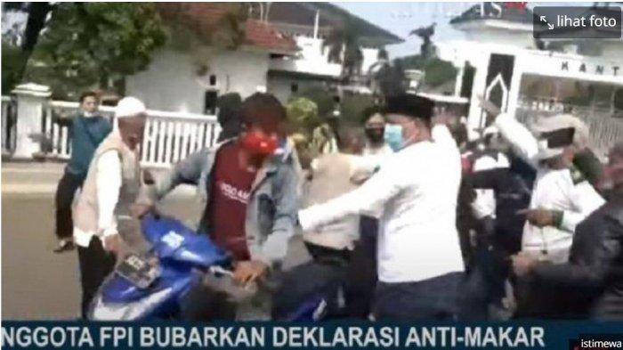 Massa FPI Datang, Aksi Gerakan Anti Makar Menuntut Habib Rizieq Shihab Diproses Pidana Kocar-kacir