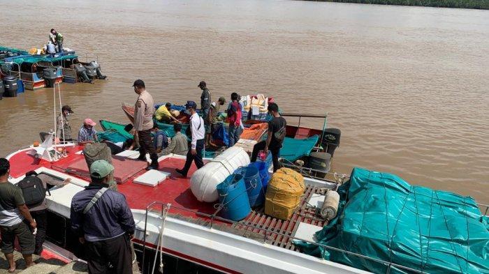 Polres Tanjabbar dan Pihak Terkait Imbauan Agen dan Penumpang Perairan Soal Larangan Mudik
