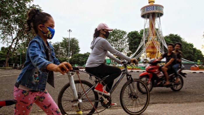 Olahraga Pagi di Akhir Pekan, Jajal CFD di Tugu Keris Siginjai Kota Jambi, SImak Aneka Sensasinya