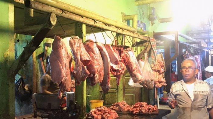 Jelang Ramadhan Pedagang di Pasar Angso Duo Prediksi Daging Sapi Bakal Naik