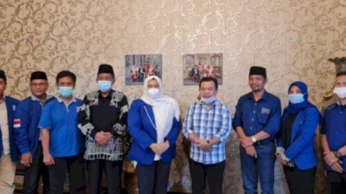 Diam-diam Calon Gubernur Jambi Al Haris Kunjungi Masnah Busro, Ini yang Dibicarakan Keduanya