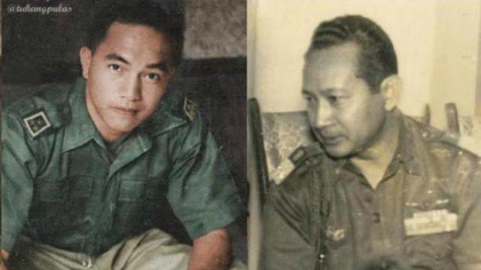 Alex E Kawilarang (kiri), Soeharto (kanan)
