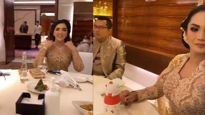 Ekspresi Ashanty saat Melihat Krisdayanti Duduk di Samping Anang di Pernikahan Atta dan Aurel