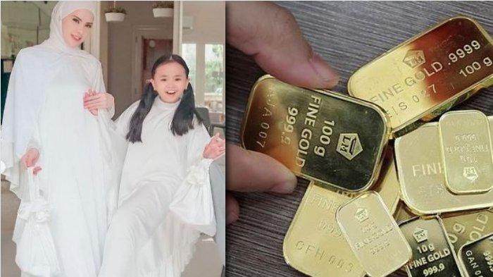 Emas Batangan Angel Lelga Dijadikan THR untuk Anaknya: Aku Mengajarkan Dia Memiliki Barang Berarti