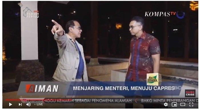 Di Aiman Kompas TV,  Akbar Faizal Sebut Ada Orang Sering Hina Jokowi Tapi Minta Jatah Menteri