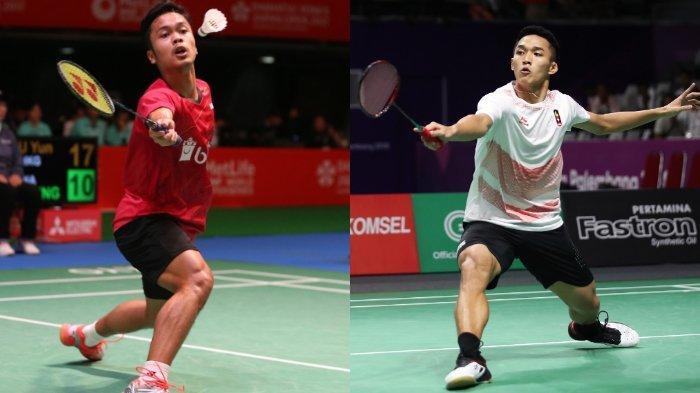 SEDANG BERLANGSUNG Semifinal Hong Kong Open 2019 Jonatan Christie vs Anthony Sinisuka Ginting