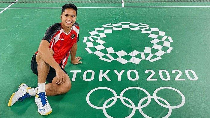Anthony Ginting menjadi sorotan dalam pembukaan Olimpiade Tokyo 2021