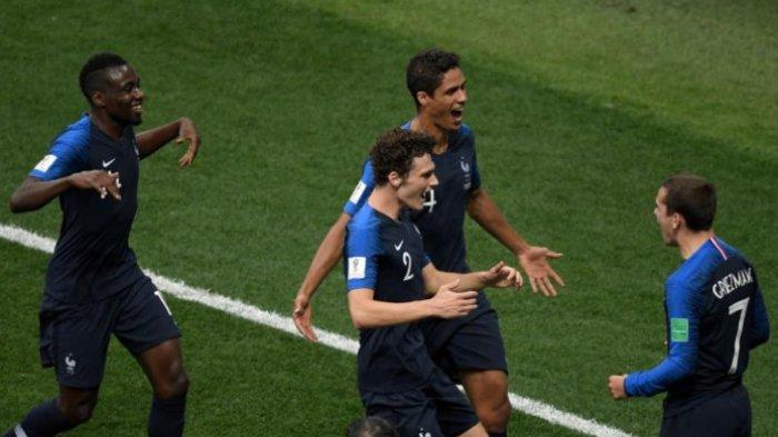 Final Piala Dunia 2018 Babak Pertama, Prancis Unggul 2-1 dari Kroasia