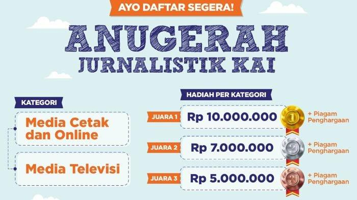 Anugerah Jurnalistik KAI Deadline Publikasi Karya 15 September 2021