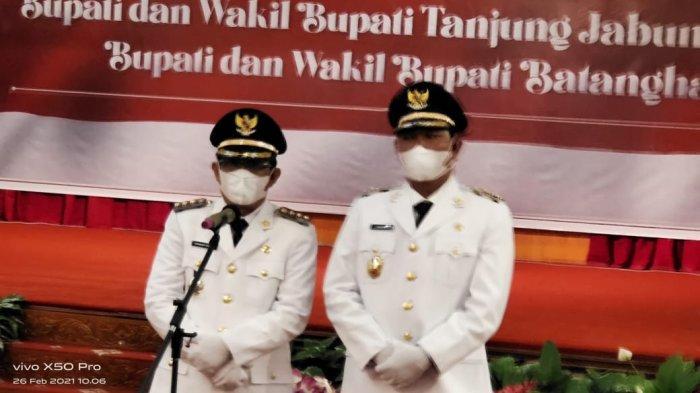 Usai Dilantik di Jambi, Bupati dan Wakil Bupati Tanjab Barat Langsung Meluncur ke Kuala Tungkal