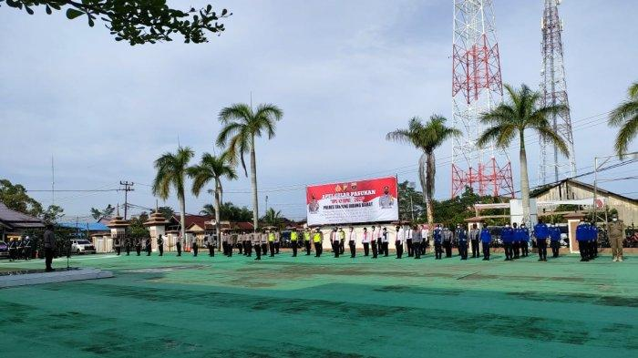 Polres Tanjabbar Apel Gelar Pasukan Operasi Ketupat 2021, Kapolres Sampaikan Amanah Kapolri