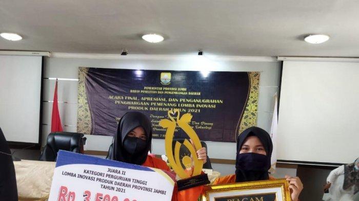 Tim Arewall dari Unja Berinovasi dengan Menggunakan Pelepah Pinang, Gondol Juara 2