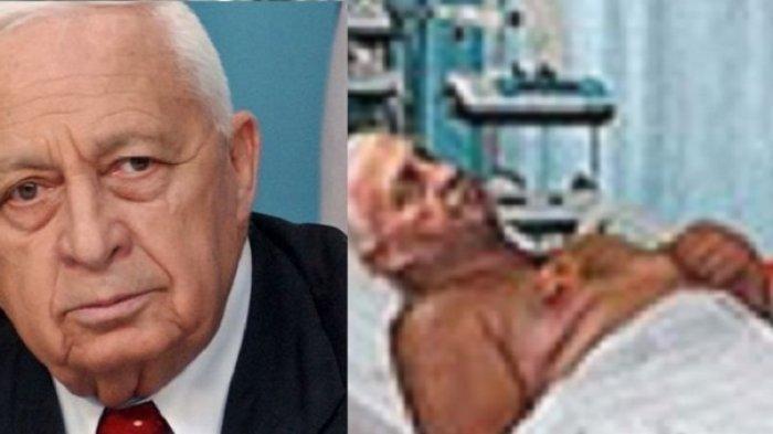 Gambaran Ariel Sharon saat dirawat.