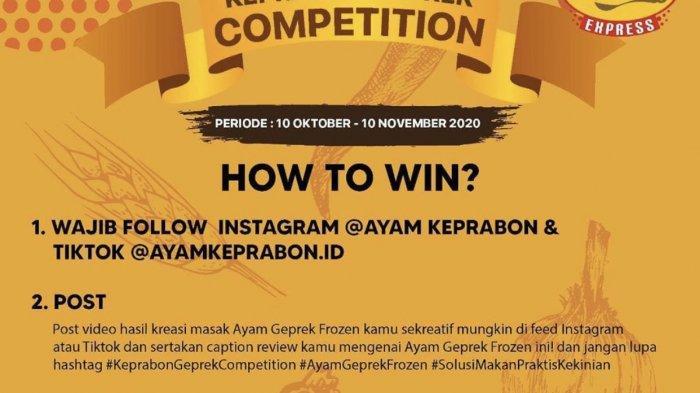 Ikuti Kompetisi Ayam Keprabon Jambi, Hadiah Utamanya Emas Batangan, Caranya Mudah