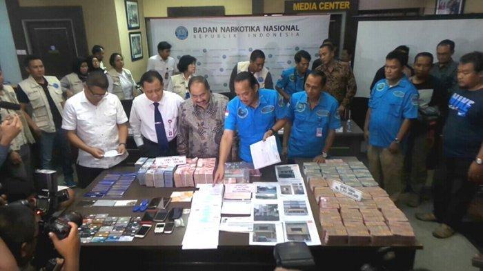 Ngeri, BNN Ungkap Tindak Pencucian Uang Transaksi Narkotika Rp 6,4 Triliun, Setara Beli 3.200 Mobil