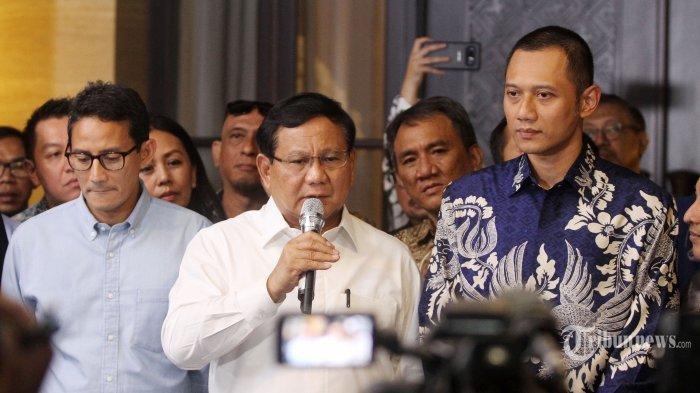 Prabowo dan Sandiaga Tiba Dikawal AHY